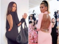 celebrities in visible g-strings kim kardashian hailey baldwin
