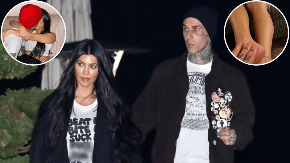 NSFW! Kourtney Kardashian and Boyfriend Travis Barker's Steamiest Exchanges So Far