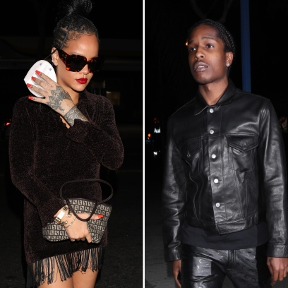 Rihanna Leaves Drake's Party With Boyfriend A$AP Rocky_ Photos