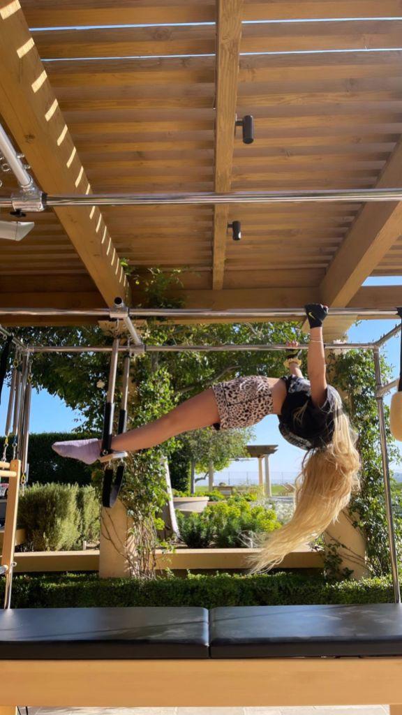 Alabama Barker and Atiana De La Hoya Do Pilates at Kourtney Kardashian's House