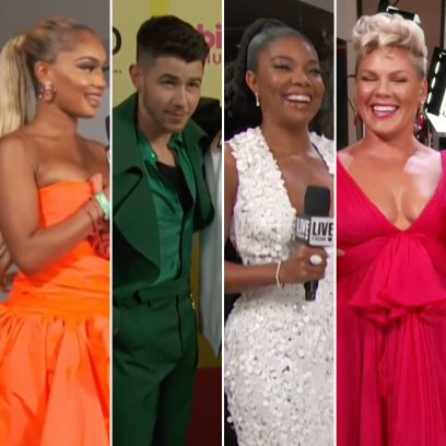 2021 Billboard Awards Red Carpet Saweetie Nick Jonas Gabrielle Union Pink