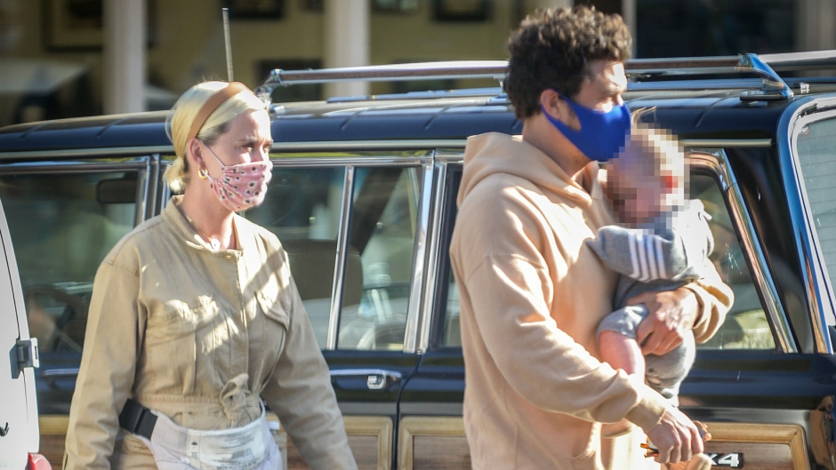 Katy Perry and Orlando Bloom Take Baby Daisy Out During Her 1st Mother's Day Weekend