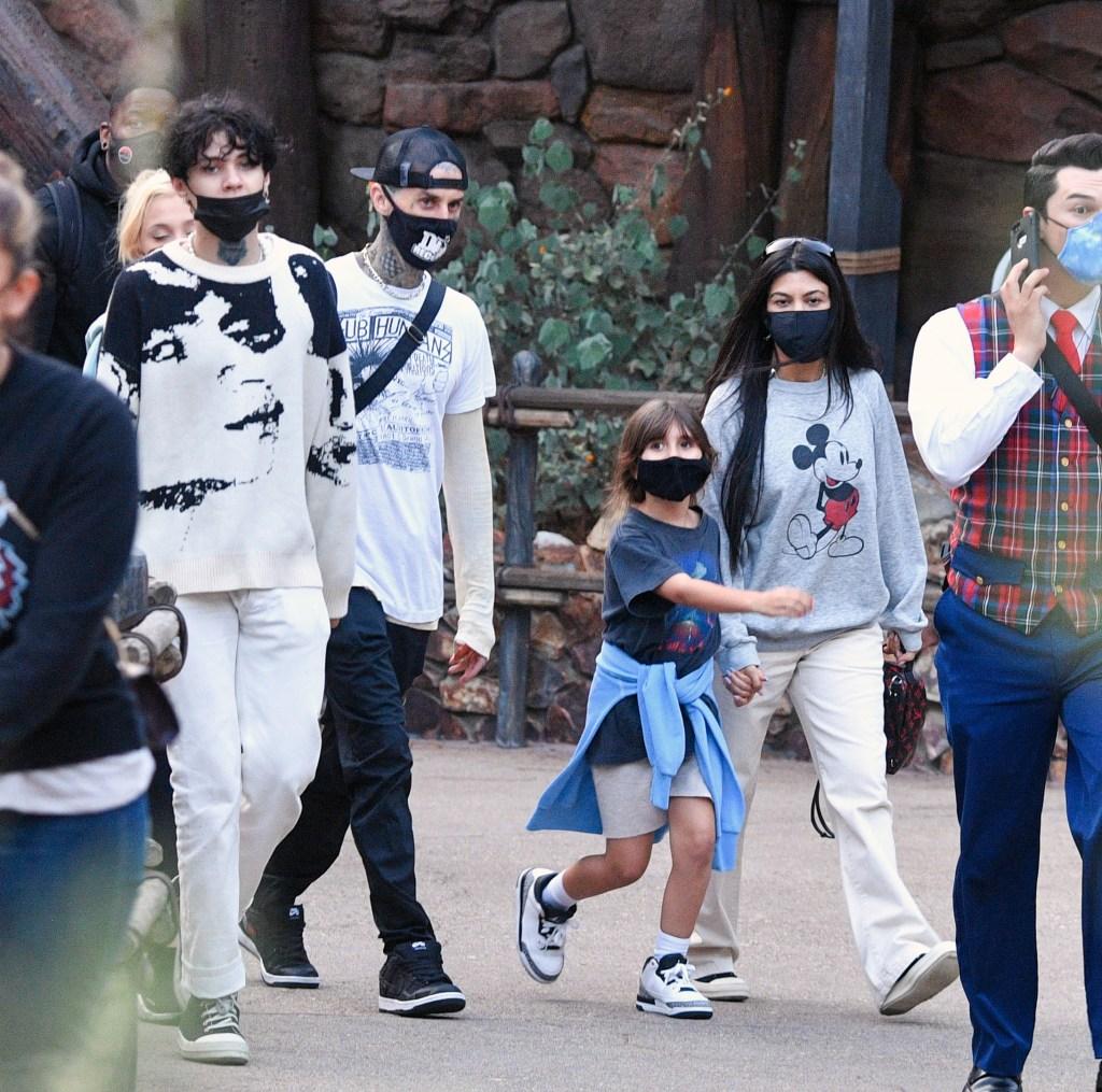 Kourtney Kardashian, Travis Barker, Kids Go to Disney: Photos 5