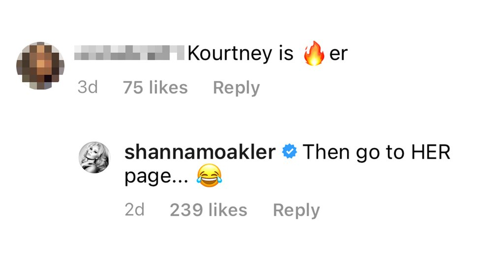Shanna Moakler Reacts Troll Who Calls Kourtney K Hotter