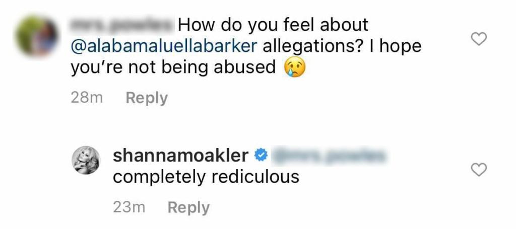 Shanna Mokler respondió a las afirmaciones de su hija Alabama Barker