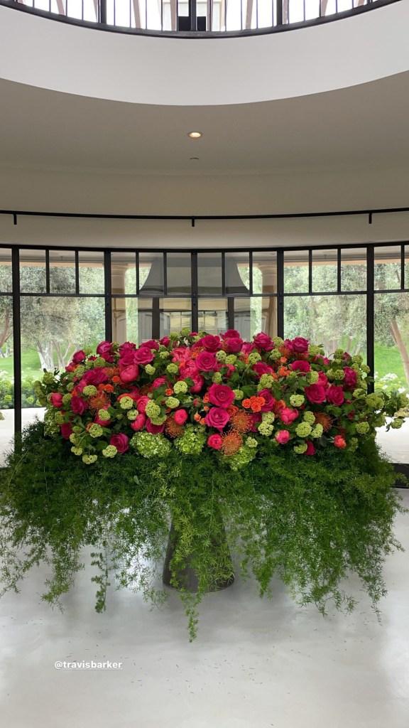 Travis Barker Gifts Kourtney Kardashian With Lavish Floral Arrangements for Mother's Day