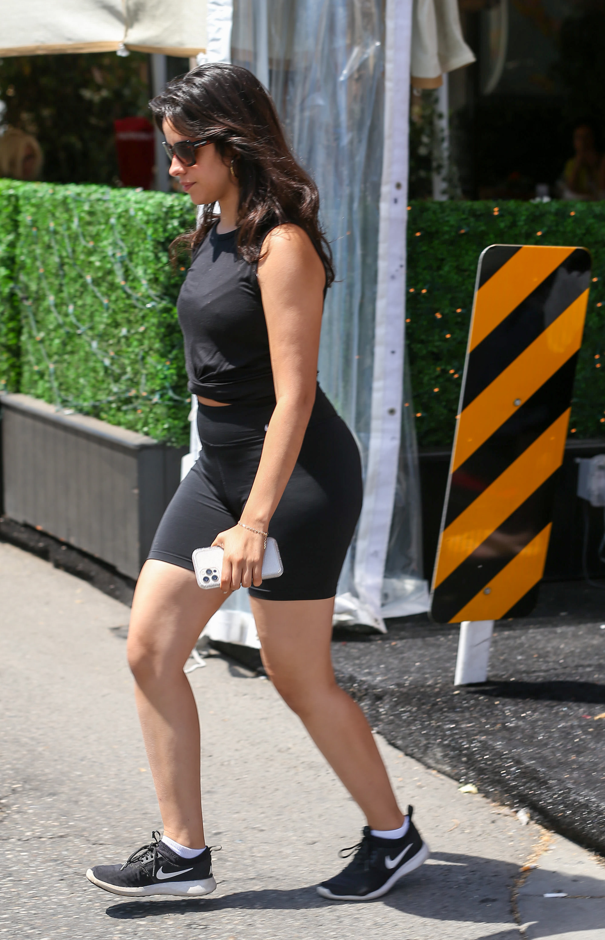 Camila Cabello Flaunts Her Curves in All-Black Workout Gear While Grabbing Lunch with Her Mom in L.A.