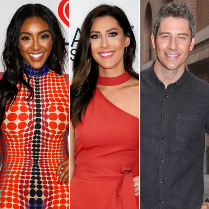 Celebrities Who Are Supportive of Their Exes' New Relationships Tayshia Adams Becca Kufrin Arie Luyendyk Jr