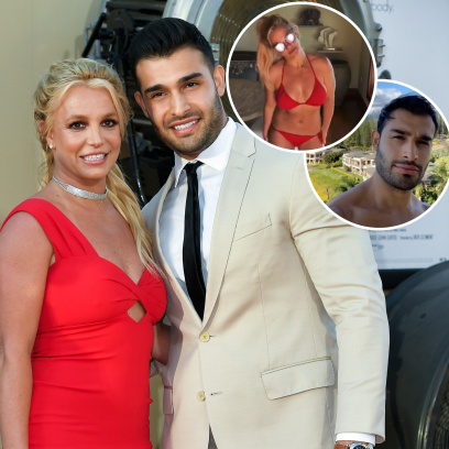 Britney Spears Wears Red Bikini in Hawaii With Sam Asghari