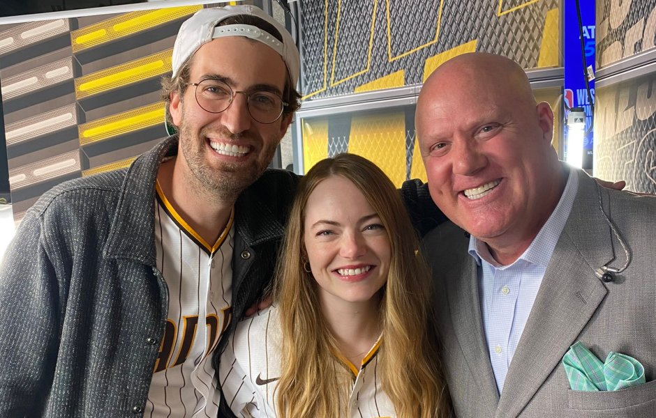Emma Stone and Husband Dave McCary Pose for Rare Photos at a San Diego Padres Game