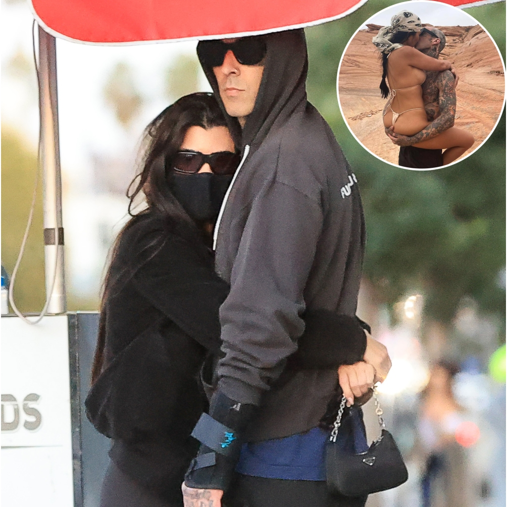 Kourtney Kardashian and Boyfriend Travis Barker Show the Most PDA While Making Out on the Street in L.A.
