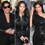 Kylie Jenner, Kim Kardashian and mother Kris Jenner grab dinner together at Craigs