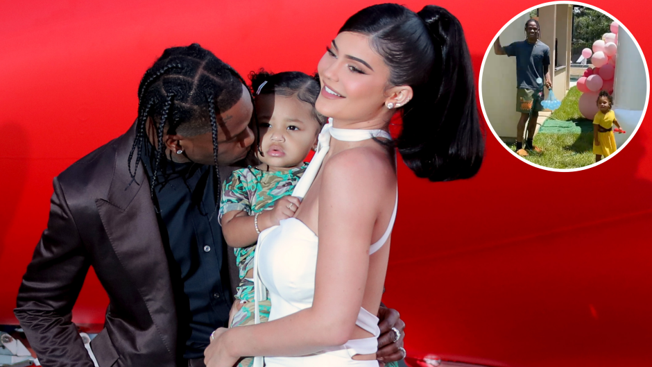 Family Fun! Kylie Jenner and Travis Scott Have a Water Balloon Fight With Daughter Stormi Webster
