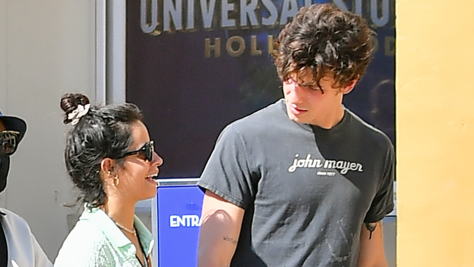 Camila Cabello Rocks a Crop Top While Packing on the PDA With Shawn Mendes at Universal Studios