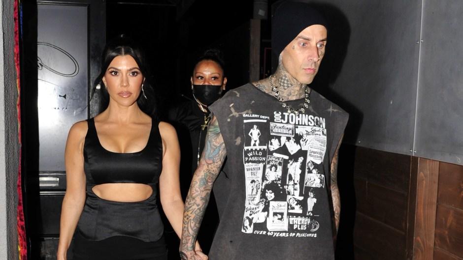 ourtney Kardashian Shows Abs During Travis Barker Date Night 5