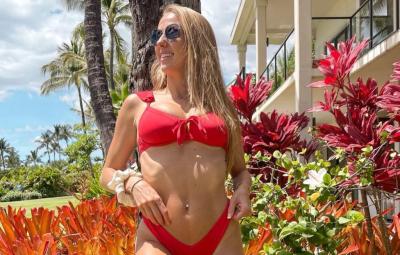 Brittany Matthews Wows in Red Bikini 3 Months Postpartum