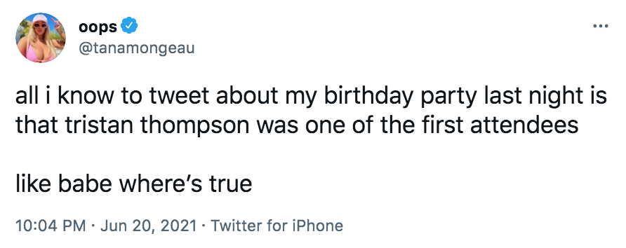 Khloe Kardashian 'Likes' a Tweet Slamming Tana Mongeau's Comments on Tristan Thompson