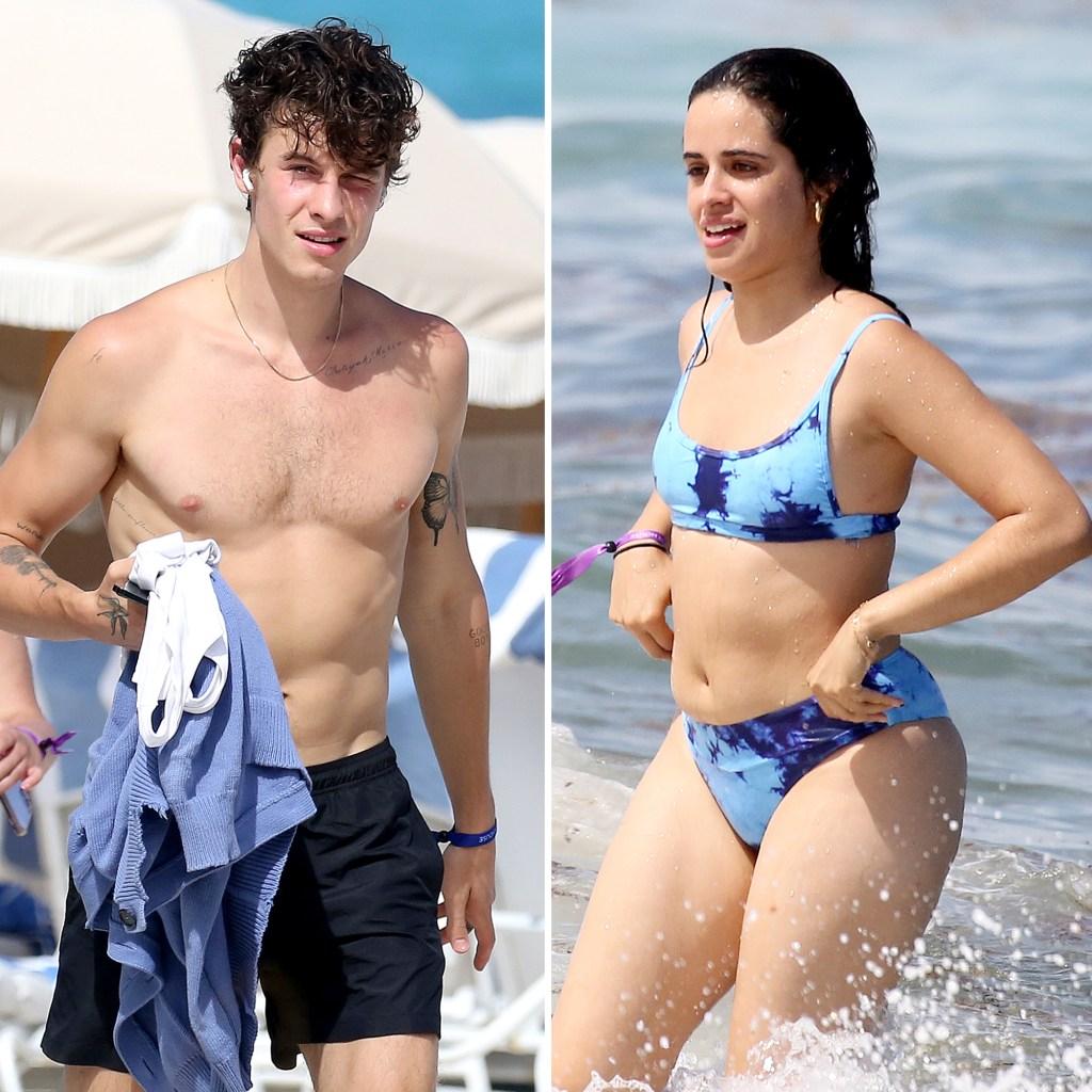 Shawn Mendes Camila Cabello Have Fun Beach Date
