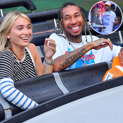 Tyga Steps Out for a Fun-Filled Day With Girlfriend Camaryn Swanson and Son King at Universal Studios