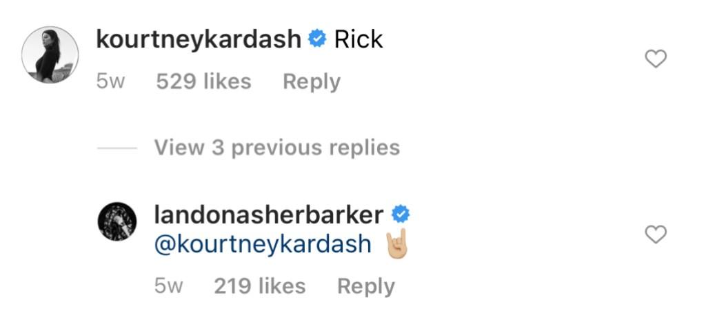 kourtney-kardashian-landon-barker-inside-joke-comment-ig