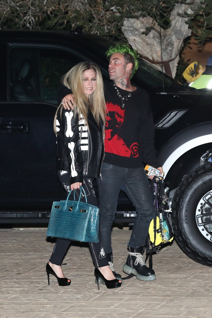 Avril Lavigne Goes Braless in a See-Through Top While Out With Boyfriend Mod Sun