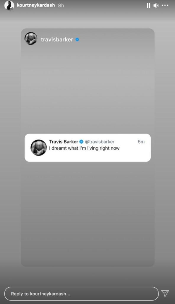 Travis Barker Says He 'Dreamt' the Life He's Living Now Amid Kourtney Kardashian Romance