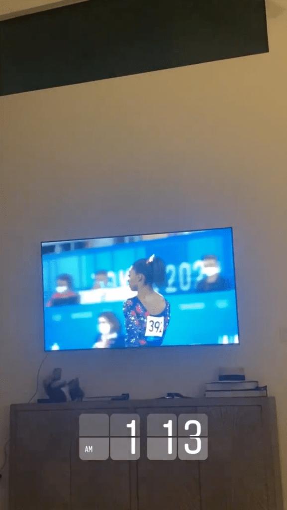 Simone Biles' Boyfriend Jonathan Owens Supports Her at Olympics