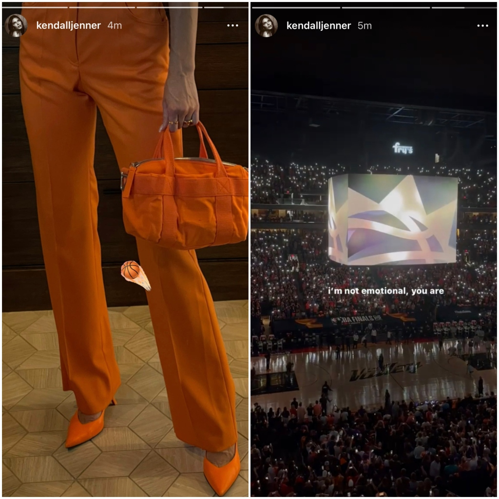 kendall-supports-devins-game-in-orange-outfit