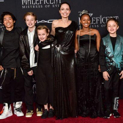 Angelia Jolie's Sweetest Photos With Her Kids