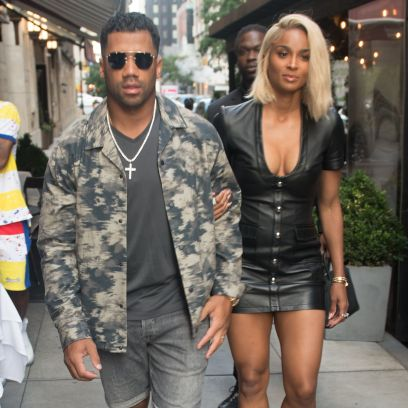 Ciara Wears Leather Dress in NYC With Husband Russell Wilson 3