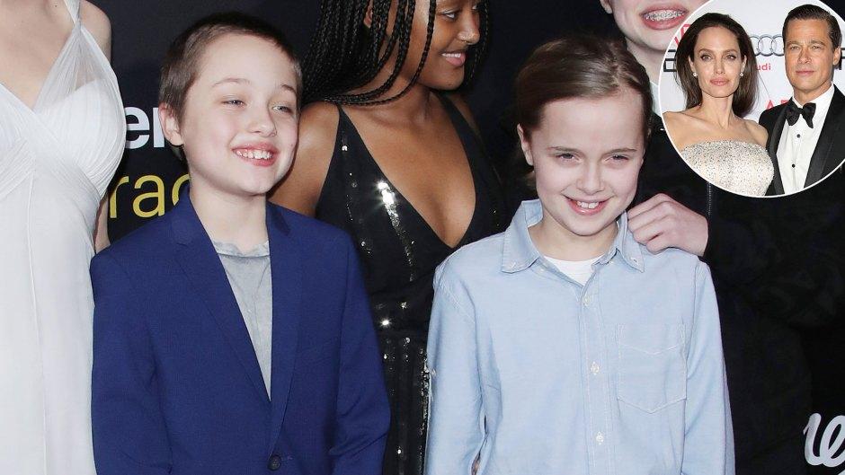 Angelina Jolie, Brad Pitt's Twins Knox, Vivienne - BiographyFlash.com