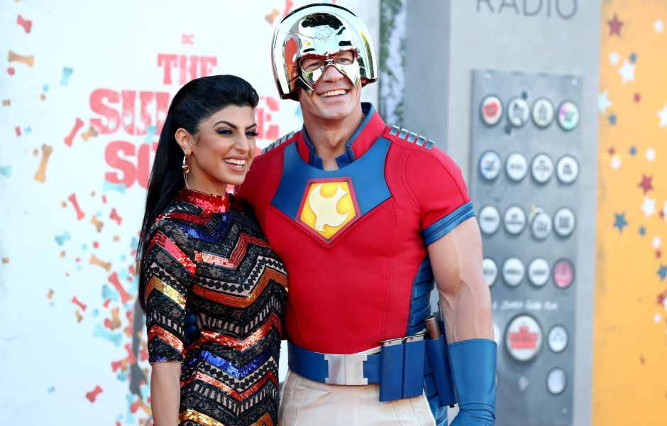John Cena and Wife Shay Shariatzadeh Pack on the PDA at 'The Suicide Squad' Premiere: See Photos!