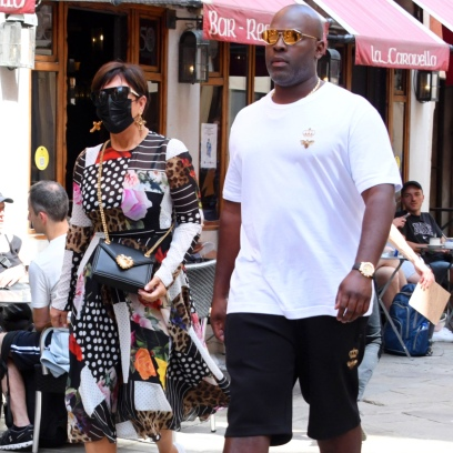 Stylish Duo! Kris Jenner and Boyfriend Corey Gamble Step Out in Venice, Italy