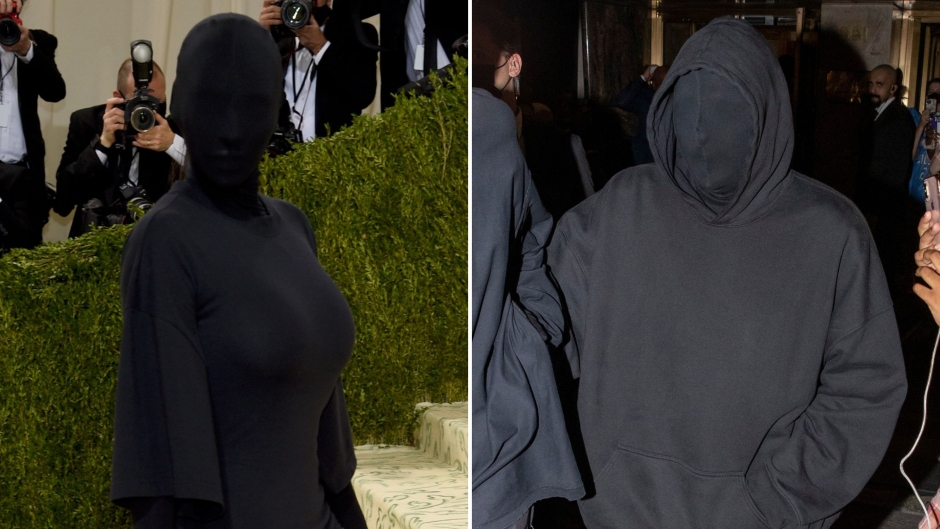 Kim Kardashian and Kanye West Matching at Met Gala Photos