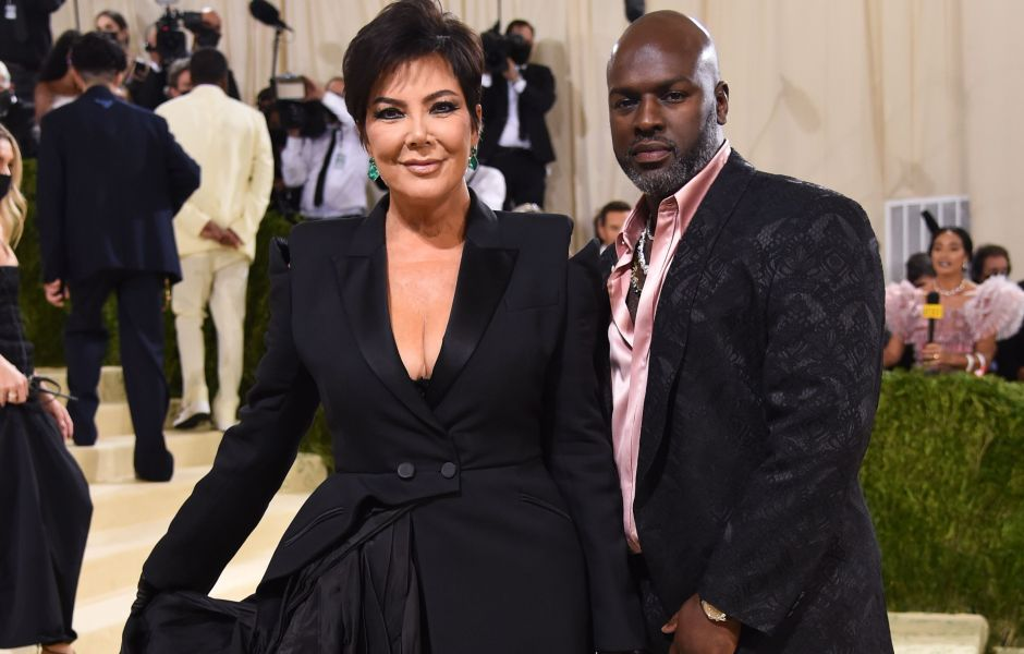 Kris Jenner and Corey Gamble Wear Coordinating Black Outfits at the 2021 Met Gala Red Carpet Photos