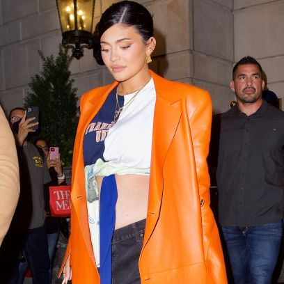 Kylie Jenner Shows Off Bare Baby Bump at NYFW Party