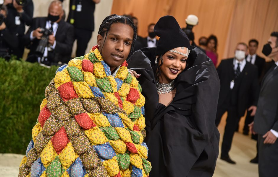 Rihanna and Boyfriend ASAP Rocky Walk the 2021 Met Gala Red Carpet Together — See Photos