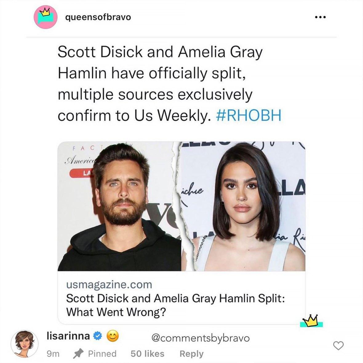 Lisa Rinna Reacts to Split
