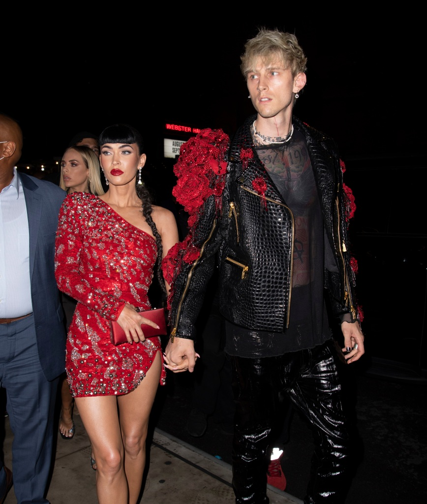 Met Gala Afterparty Photos 2021 Megan Fox and Machine Gun Kelly head to a Met Gala after party, New York, USA - 13 Sep 2021