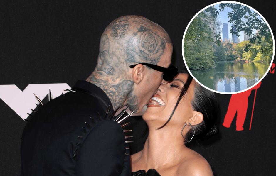Kourtney Kardashian and Travis Barker Enjoy Romantic Ride Through Central Park — See Their Sweet PDA-feature