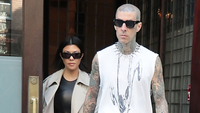Kourtney Kardashian and Travis Barker Hold Hands While Stepping Out in NYC