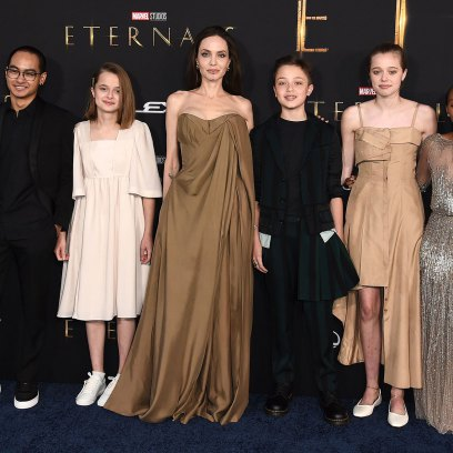 Shiloh Jolie Pitt Teen Wears Makeup Dress For First Time Red Carpet With Mom Angelina Jolie