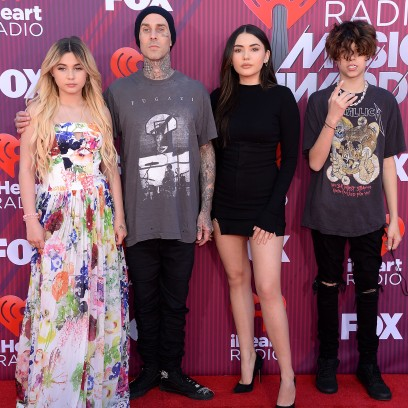 Travis Barker and His Kids on Red Carpets