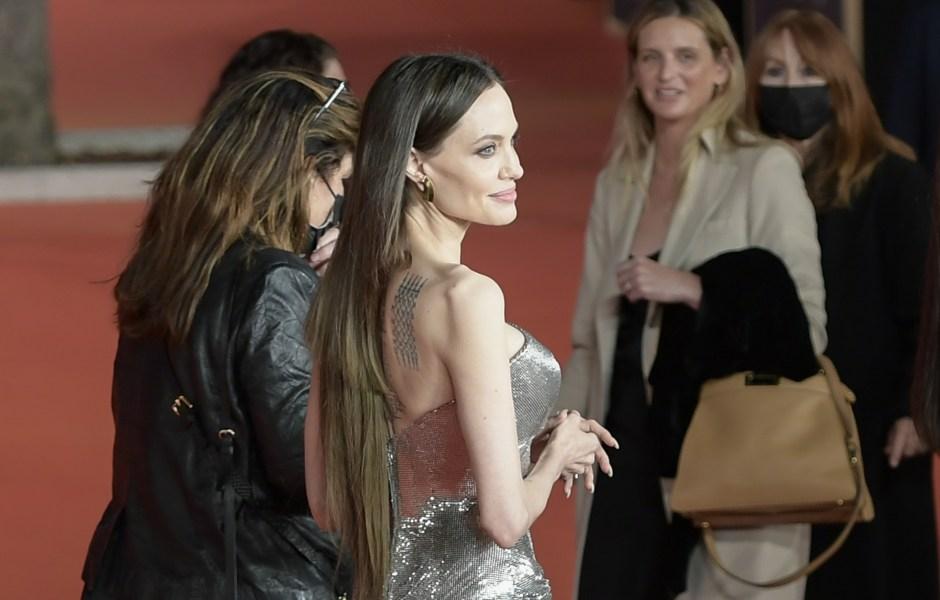 Angelina Jolie Red Carpet Hair Malfunction