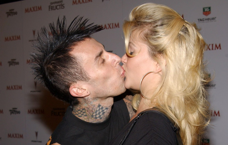Travis Barker and Shanna Moakler PDA Moments Photos
